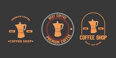 diseño de plantilla de icono de logotipo de cafetería vector