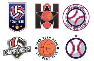 Illustration vector graphic of sport logo. Retro Logo, Vintage Logo Design Template Inspiration