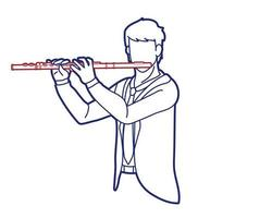Flute Musician Orchestra Instrument Graphic Vector