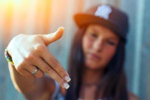chica rap hip hop foto