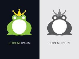 Prince Frog Icon vector