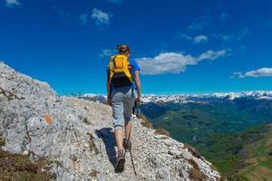 Trekking on the Alps photo