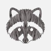 Raccoon Face Front View vector