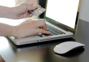 Shopping online mock-up photo