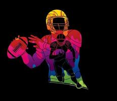 Abstract American Football Players vector