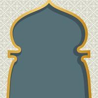 Arabic window design. Ramadan Kareem greeting card. Islamic background art vector