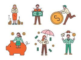 Money and finance character set vector