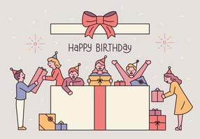 birthday celebration post card. vector