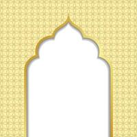 Ramadan kareem or eid al fitr, background with golden arch, with golden arabic pattern, background for holy month of muslim community Ramadan Kareem, EPS 10 contains transparency vector