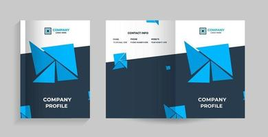 template layout design with cover page vector