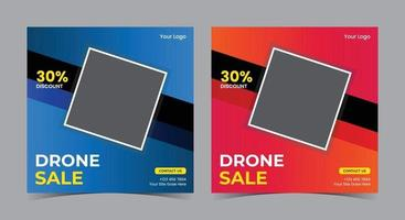 Drone sale Poster, Drone social media post and flyer vector