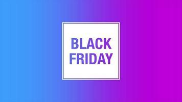 texto de introdução de animação black friday em fundo roxo moda e minimalismo com cor gradiente