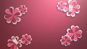 animation närbild rörelse romantiska hjärtan på glänsande bakgrund alla hjärtans dag