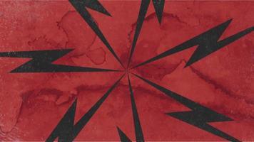 movimento abstrato raios pretos, fundo vermelho grunge