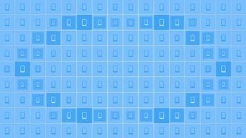 ícones de smartphone de movimento em fundo de rede simples