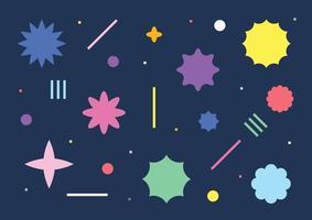 Simple sparkle shapes vector