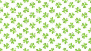 Animation Saint Patricks Day Holiday Hintergrund mit Bewegung grünen Kleeblättern video