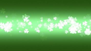 movimento trevos verdes, fundo de animação do dia de São Patrício