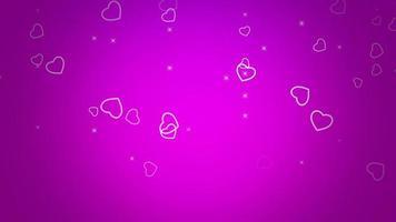 Alla hjärtans dag blank bakgrund. animation romantiskt hjärta
