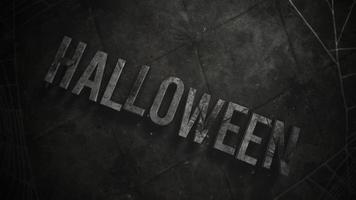 animationstext halloween och mystisk skräckbakgrund med mörkt spindelnät