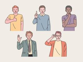 Man character collection. vector