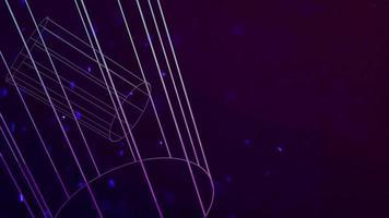 beweging geometrische vorm in de ruimte, abstracte achtergrond