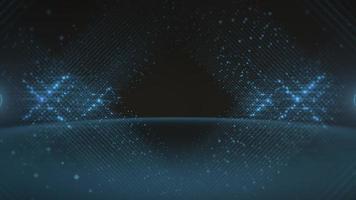 beweging blauwe lijnen van stippen, abstracte achtergrond video