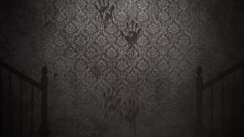 fond d'horreur mystique avec hall sombre de la pièce, toile de fond d'horreur abstraite