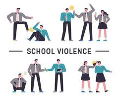 School violence awareness with students vector