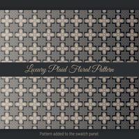 Luxury Plaid Floral Pattern. Luxury arabic. Floral Pattern vector