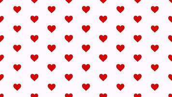 Valentinstag glänzenden Hintergrund. Animation romantisches Herz video