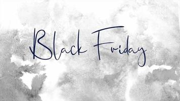 texto de introdução de animação sexta-feira negra sobre fundo branco moderno e grunge