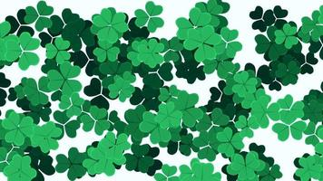 animation saint patricks day vacances fond avec trèfles vert