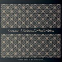 Awesome Traditional Plaid Pattern. Background with seamless pattern in islamic style, vector