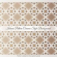 Islamic Pattern Ceramic Style Background vector