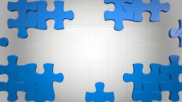 Movimiento azul piezas de rompecabezas de fondo abstracto