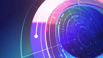 notícias, introdução, animação gráfica com linhas e formas circulares, fundo abstrato video