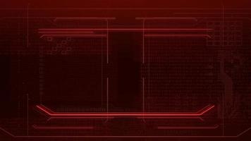 fundo de animação cyberpunk com matriz de computador, números e grade