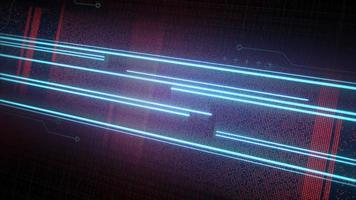 fundo de animação cyberpunk com linhas de néon e grade de matriz video