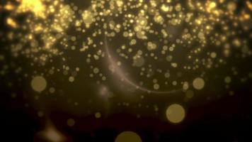 amarelo abstrato e partículas caindo. feliz ano novo e feliz natal fundo brilhante