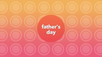 texto de introducción de animación día del padre en degradado naranja fondo de moda y minimalismo con puntos video