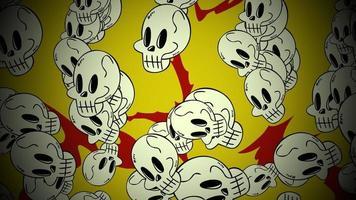 halloween-achtergrondanimatie met de schedels