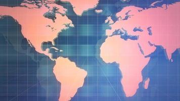 nieuws grafische animatie met lijnen en wereldkaart, abstracte achtergrond