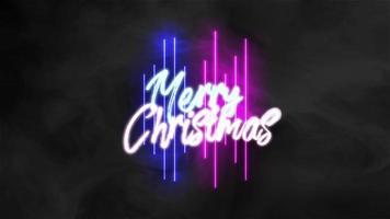animering intro text god jul på mode och klubb bakgrund med glödande linjer video