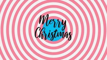 testo di introduzione di animazione buon Natale su sfondo bianco moda e minimalismo con linee rosse vertigini video