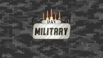 animação de texto do dia militar em antecedentes militares com patronos