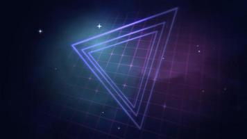 movimiento retro triángulos azules fondo abstracto video