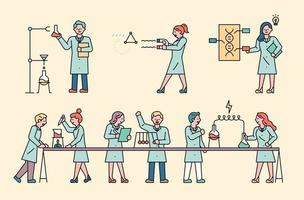 Scientists in the laboratory vector
