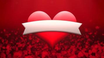 animation closeup motion coeur romantique sur fond brillant de la Saint-Valentin