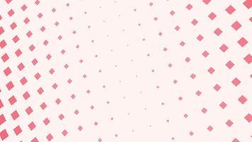 Intro de movimiento cuadrados rojos geométricos, fondo abstracto simple
